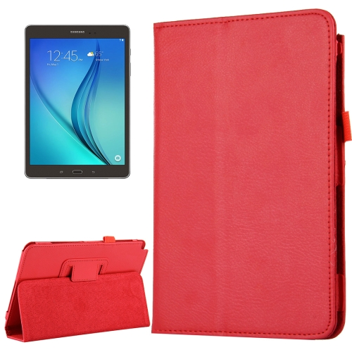 Buy For Samsung Galaxy Tab A 8.0 / T350 Litchi Texture Magnetic Horizontal Flip Leather Case with Holder, Red for $2.47 in SUNSKY store