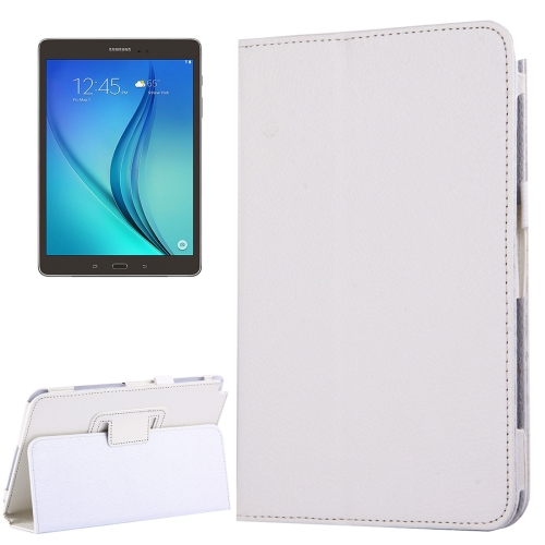 Buy For Samsung Galaxy Tab A 8.0 / T350 Litchi Texture Magnetic Horizontal Flip Leather Case with Holder, White for $2.47 in SUNSKY store