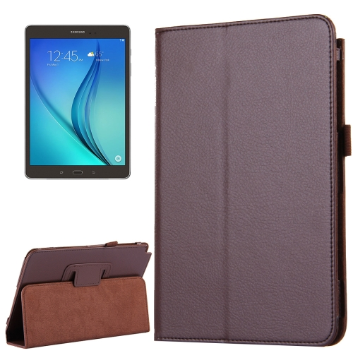 Buy For Samsung Galaxy Tab A 8.0 / T350 Litchi Texture Magnetic Horizontal Flip Leather Case with Holder, Brown for $2.47 in SUNSKY store