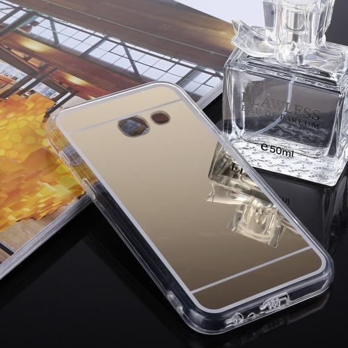 Buy For Samsung Galaxy J3, 2017 (US Version) Acrylic + TPU Electroplating Mirror Protective Back Cover Case, Gold for $1.27 in SUNSKY store