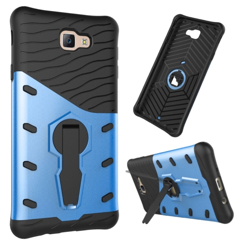 Buy For Samsung Galaxy J7 Prime & On7, 2016 / G610 Shock-Resistant 360 Degree Spin Tough Armor TPU + PC Combination Case with Holder, Blue for $2.34 in SUNSKY store