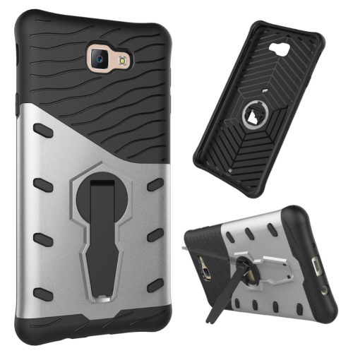 Buy For Samsung Galaxy J7 Prime & On7, 2016 / G610 Shock-Resistant 360 Degree Spin Tough Armor TPU + PC Combination Case with Holder, Silver for $2.34 in SUNSKY store