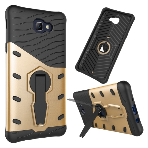 Buy For Samsung Galaxy J5 Prime & On5, 2016 / G570 Shock-Resistant 360 Degree Spin Tough Armor TPU + PC Combination Case with Holder, Gold for $2.34 in SUNSKY store