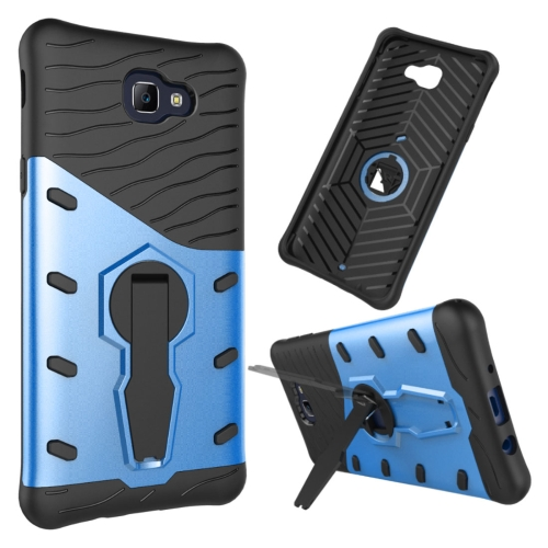 Buy For Samsung Galaxy J5 Prime & On5, 2016 / G570 Shock-Resistant 360 Degree Spin Tough Armor TPU + PC Combination Case with Holder, Blue for $2.34 in SUNSKY store