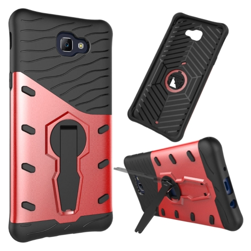 Buy For Samsung Galaxy J5 Prime & On5, 2016 / G570 Shock-Resistant 360 Degree Spin Tough Armor TPU + PC Combination Case with Holder, Red for $2.34 in SUNSKY store