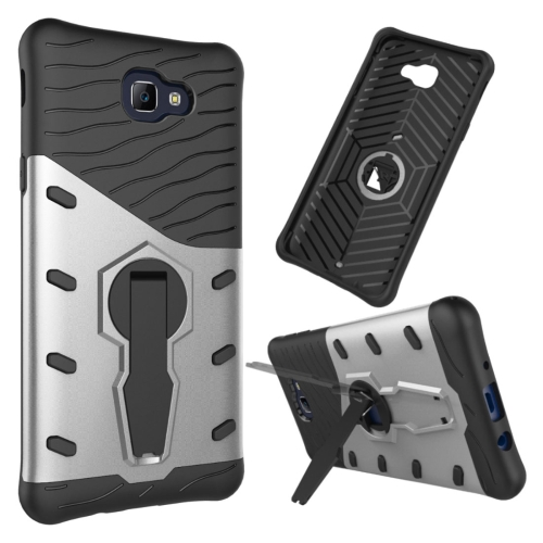 Buy For Samsung Galaxy J5 Prime & On5, 2016 / G570 Shock-Resistant 360 Degree Spin Tough Armor TPU + PC Combination Case with Holder, Silver for $2.34 in SUNSKY store