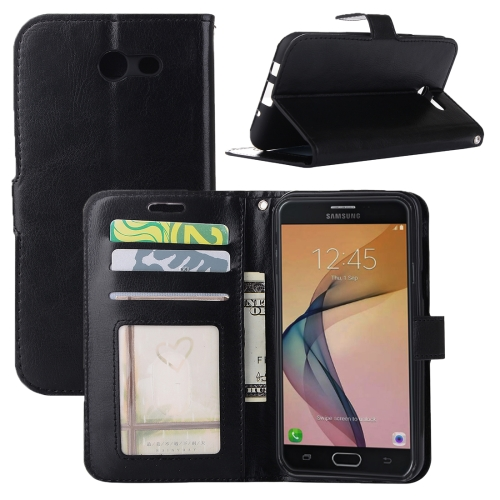 Buy For Samsung Galaxy J3, 2017 (US Version) Crazy Horse Texture Horizontal Flip Leather Case with Holder & Card Slots & Wallet & Photo Frame, Black for $2.43 in SUNSKY store