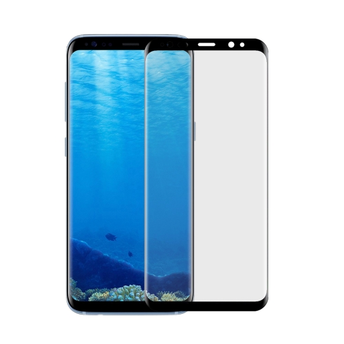 Buy For Samsung Galaxy S8 Angibabe 0.1mm PET Curved Electroplate Front Soft Full Screen Protector Film, Black for $1.41 in SUNSKY store