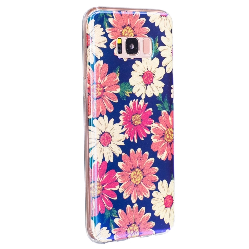 Buy For Samsung Galaxy S8 + / G955 Color Daisy Pattern Blue Light Glitter Powder Soft TPU Protective Case for $2.29 in SUNSKY store