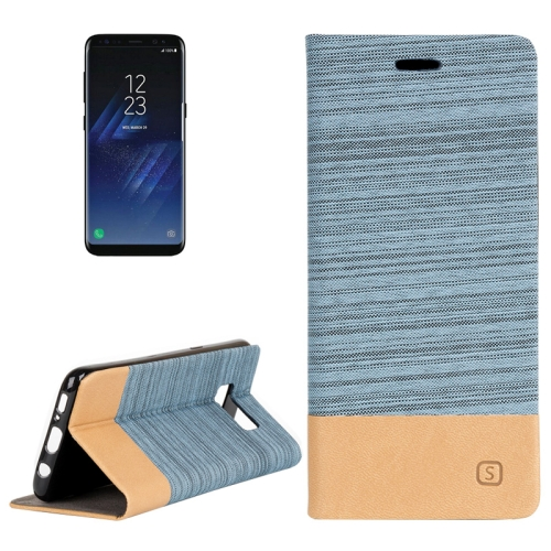 Buy For Samsung Galaxy S8 Denim Texture Horizontal Flip Leather Case with Holder & Card Slots & Wallet, Blue for $2.40 in SUNSKY store