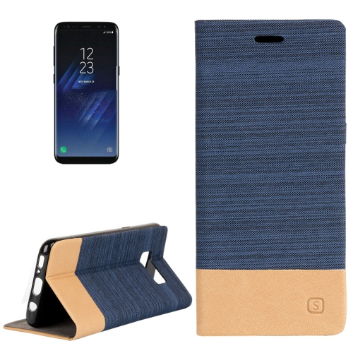 For Samsung Galaxy S8 + / G955 Denim Texture Horizontal Flip Leather Case with Holder & Card Slots & Wallet (Dark Blue)