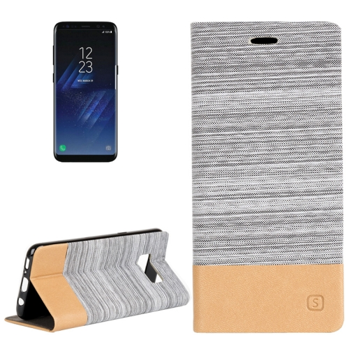 Buy For Samsung Galaxy S8 + / G955 Denim Texture Horizontal Flip Leather Case with Holder & Card Slots & Wallet, Grey for $2.40 in SUNSKY store