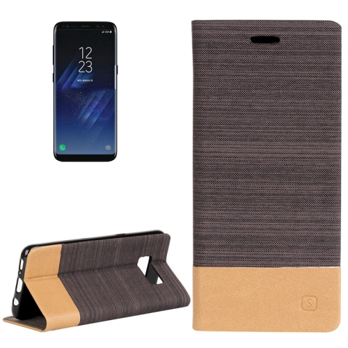 Buy For Samsung Galaxy S8 + / G955 Denim Texture Horizontal Flip Leather Case with Holder & Card Slots & Wallet, Brown for $2.40 in SUNSKY store