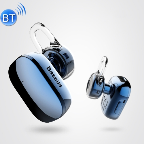 Baseus Encok A02 One-sided Touch Control Wireless Bluetooth In-Ear Plating Earphone, Support Answer / Hang Up Calls, For iPhone, Samsung, Huawei, Xiaomi, HTC, Sony and Other Smartphones(Blue) amoi a5 wireless bluetooth outdoors mini sonic card сабвуфер портативный автоспуск one touch calls пожилой радиотелефон розовый