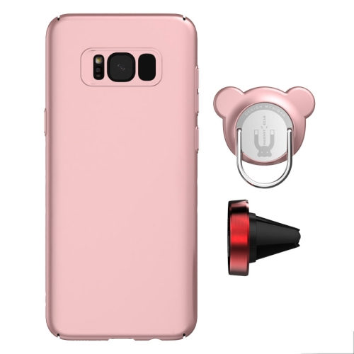 Buy AIQAA For Samsung Galaxy S8 PC Dual-purpose Magnetic Protective Case with Ring Holder & Car Air Outlet Vent Holder (Rose Gold) for $4.94 in SUNSKY store