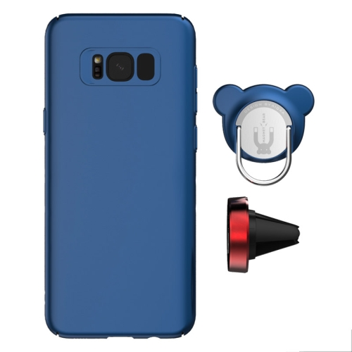 Buy AIQAA For Samsung Galaxy S8 + / G955 PC Dual-purpose Magnetic Protective Case with Ring Holder & Car Air Outlet Vent Holder (Dark Blue) for $4.96 in SUNSKY store