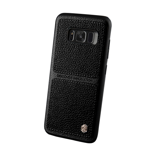 Buy NILLKIN Burt Series For Samsung Galaxy S8 + / G955 Business Style Leather Surface PC Protective Case Back Cover with Soft TPU Frame, Black for $6.36 in SUNSKY store