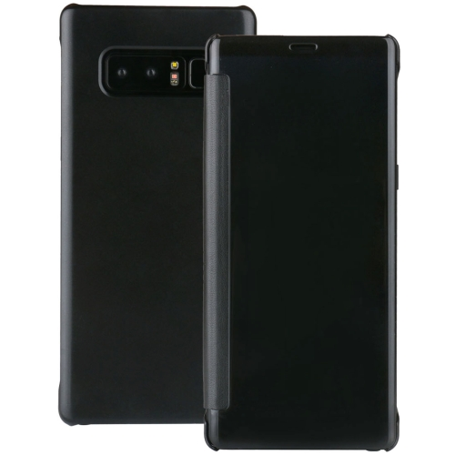 Buy For Samsung Galaxy Note 8 UV Style PC + PVC High Transparency Frosted Horizontal Flip Leather Case with Sleep / Wake-up Function, Black for $2.54 in SUNSKY store
