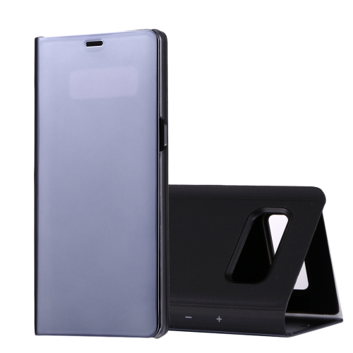 For Galaxy Note 8 Electroplating Mirror Horizontal Flip Leather Case with Sleep / Wake-up & Holder Function(Black)