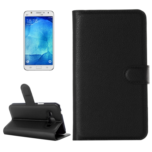 Buy For Samsung Galaxy J7 Litchi Texture Horizontal Flip Leather Case with Holder & Card Slots & Wallet, Black for $2.28 in SUNSKY store