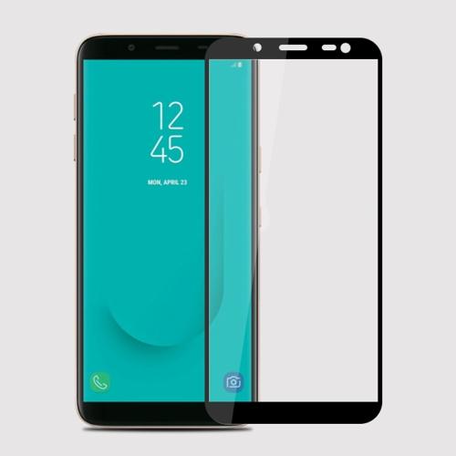 MOFI 9H Surface Hardness 2.5D Arc Edge Full Screen Tempered Glass Film for Galaxy J6 (2018)(Black)