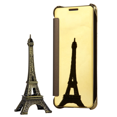 Buy For Samsung Galaxy A7, 2016 / A710 Plating Mirror Horizontal Flip Leather Case with Sleep / Wake-up Function, Gold for $3.19 in SUNSKY store
