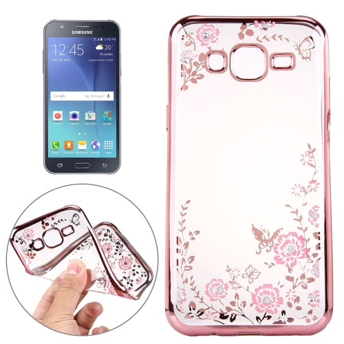 Buy For Samsung Galaxy J5 / J500 Flowers Pattern Electroplating Soft TPU Protective Cover Case for $1.46 in SUNSKY store