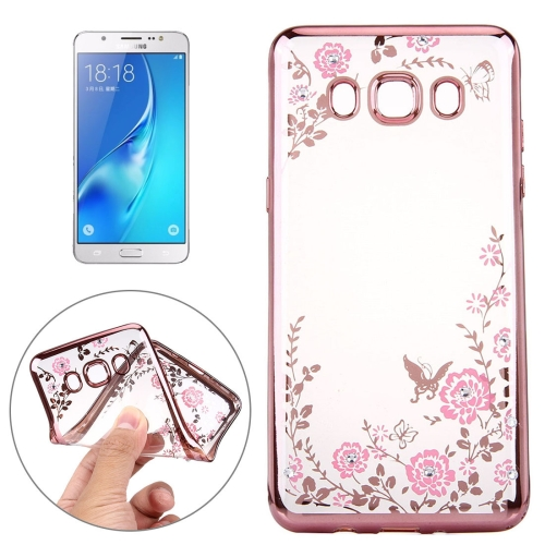 Buy For Samsung Galaxy J7, 2016 / J710 Flowers Pattern Electroplating Soft TPU Protective Cover Case for $1.48 in SUNSKY store