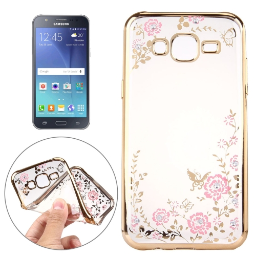 Buy For Samsung Galaxy J7 / J700 Flowers Pattern Electroplating Soft TPU Protective Cover Case for $1.25 in SUNSKY store