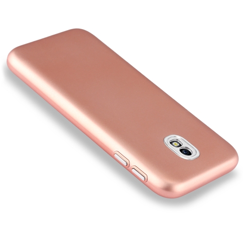 Buy For Samsung Galaxy J3, 2017  (EU Version) TPU Metal Button Protective Back Cover Case (Rose Gold) for $1.54 in SUNSKY store