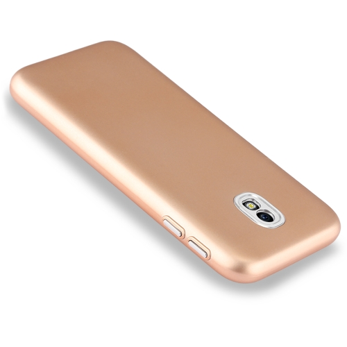 Buy For Samsung Galaxy J5, 2017  (EU Version) TPU Metal Button Protective Back Cover Case, Gold for $1.54 in SUNSKY store