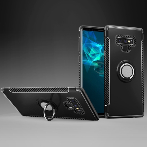 Magnetic Armor Protective Case for Galaxy Note 9, with 360 Degree Rotation Ring Holder(Black) 360 degree rotation pu leather smart case w card slot for samsung galaxy note pro 12 2 p900 black