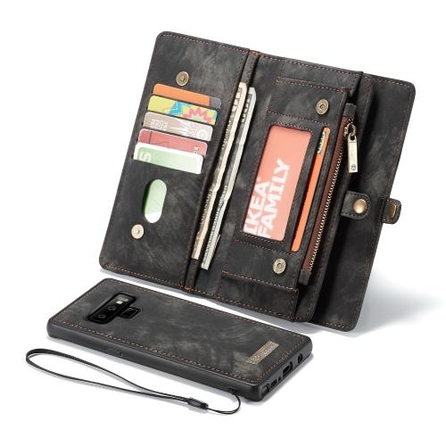 CaseMe-008 Detachable Multifunctional Horizontal Flip Leather Case for Galaxy Note 9, with Card Slot & Holder & Zipper Wallet & Photo Frame(Black) фоторамка ji hengxuan photo frame 008 13