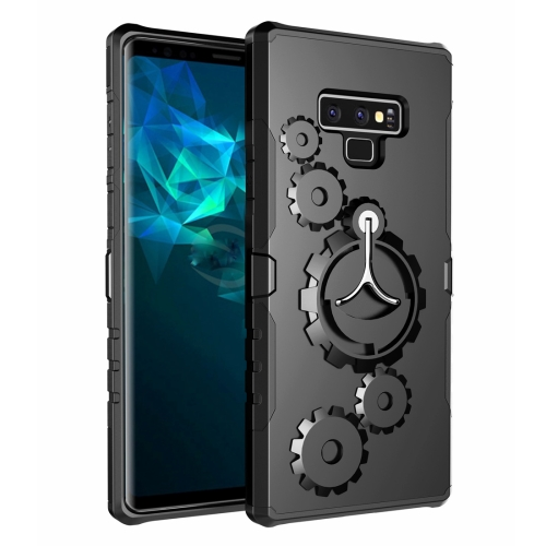 Gears Pattern Case for Galaxy Note 9,with Armlet(Black)