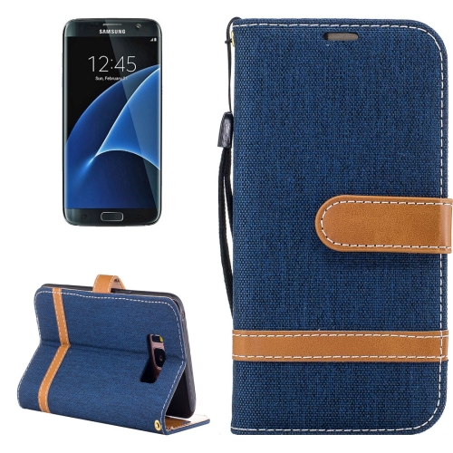 Buy For Samsung Galaxy S8 + / G955 Denim Texture Leather Case with Holder & Card Slots & Wallet & Lanyard (Dark Blue) for $2.56 in SUNSKY store