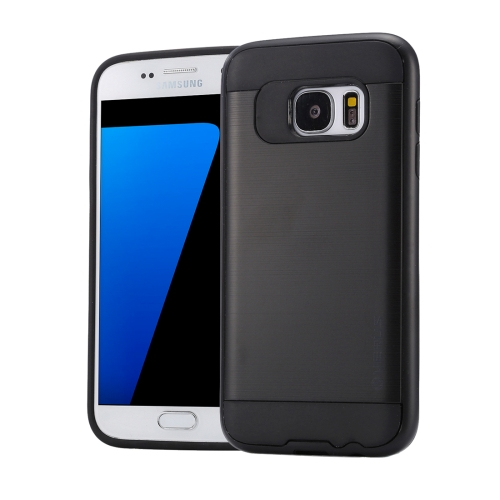 Buy For Samsung Galaxy S7 / G930 Brushed Texture PC + TPU Protective Case, Black for $1.49 in SUNSKY store