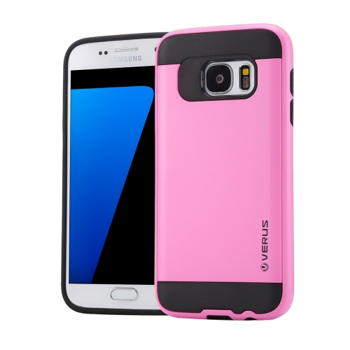 Buy For Samsung Galaxy S7 / G930 Brushed Texture PC + TPU Protective Case, Pink for $1.49 in SUNSKY store