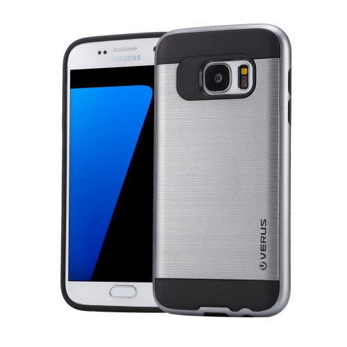 Buy For Samsung Galaxy S7 / G930 Brushed Texture PC + TPU Protective Case, Grey for $1.49 in SUNSKY store