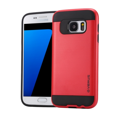 Buy For Samsung Galaxy S7 / G930 Brushed Texture PC + TPU Protective Case, Red for $1.49 in SUNSKY store