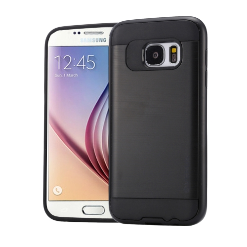 Buy For Samsung Galaxy S6 / G920 Brushed Texture PC + TPU Protective Case, Black for $1.49 in SUNSKY store