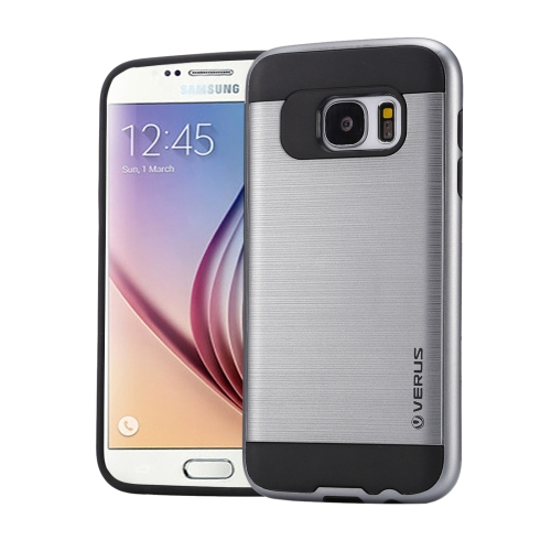 Buy For Samsung Galaxy S6 / G920 Brushed Texture PC + TPU Protective Case, Grey for $1.49 in SUNSKY store
