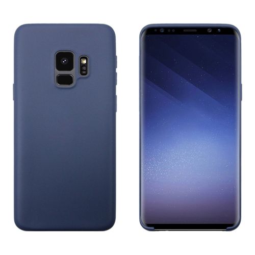 For Galaxy S9 Solid Color TPU Dropproof Protective Back Cover Case(Dark Blue) bar chair antique color ktv stool free shipping brown blue dark green color public house stool