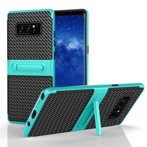 Buy For Samsung Galaxy Note 8 PC Texture Protective Cover Back Case with Built-in Holder, Green for $2.02 in SUNSKY store