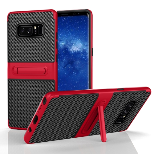 Buy For Samsung Galaxy Note 8 PC Texture Protective Cover Back Case with Built-in Holder, Red for $2.02 in SUNSKY store