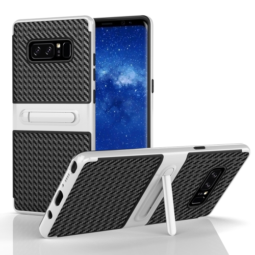 Buy For Samsung Galaxy Note 8 PC Texture Protective Cover Back Case with Built-in Holder, White for $2.02 in SUNSKY store