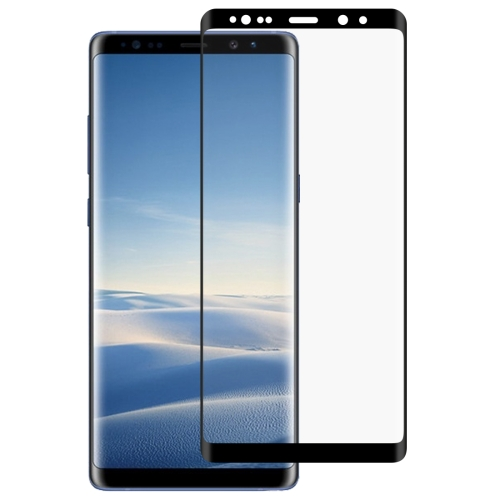 0.3mm 9H Surface Hardness 2.5D Curved Edge Full Screen Full Glue Tempered Glass Film for Galaxy Note8(Black)