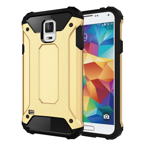 For Galaxy S5 / G900 Tough Armor TPU + PC Combination Case(Gold)