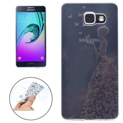Buy For Samsung Galaxy A3, 2016 / A310 Butterfly and Girl Pattern Soft TPU Protective Back Cover Case for $1.16 in SUNSKY store