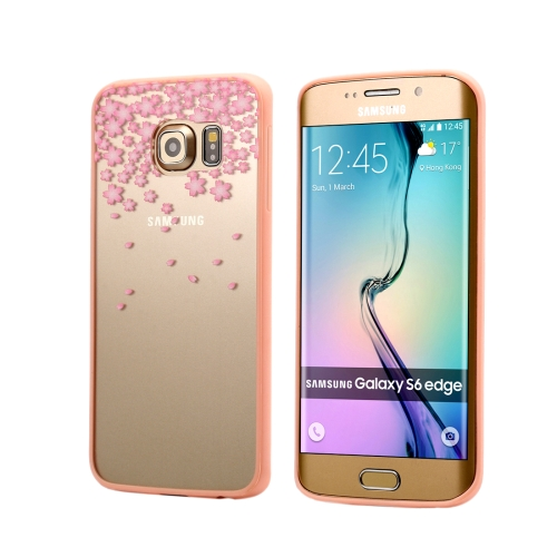 Buy For Samsung Galaxy S6 Edge / G925 Cherry Blossom Flower Pattern Transparent Plastic Protective Case for $1.48 in SUNSKY store