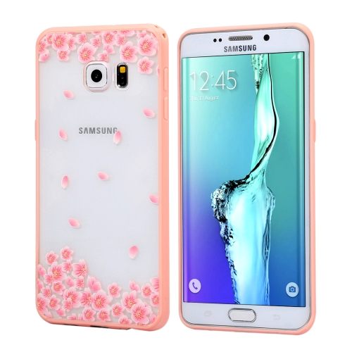 Buy For Samsung Galaxy S6 Edge+ / G928 Cherry Blossom Flower Pattern Transparent Plastic Protective Case for $1.48 in SUNSKY store